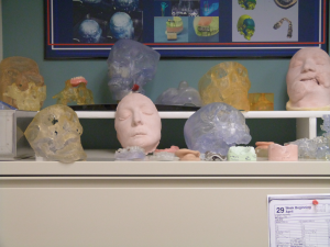 A collection of masks and molds at the Institute of Surgical Research (and affiliated centers) in San Antonio. Photo courtesy of Liza Gross.