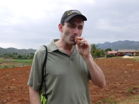 Smoking a cigar in Cuba (February 2015)