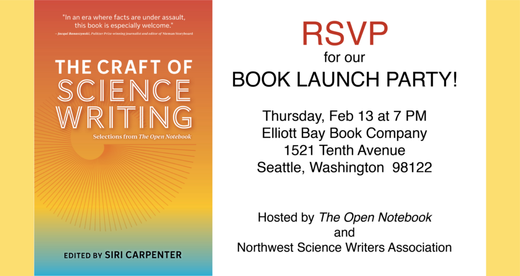 The Craft of Science Writing Evite